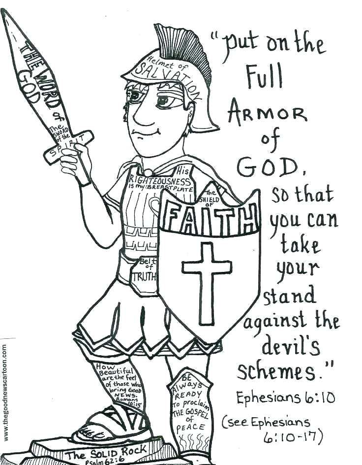 armor of god coloring page # 7
