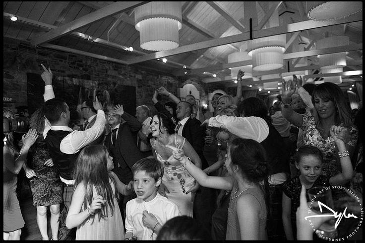 On the dance floor. Evening wedding reception at Ballymagarvey Village, Co Meath ---Photographs by Dylan McBurney