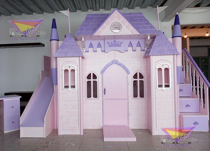Angelical castillo litera para princesas castillos - Caballeros y princesas literas ...
