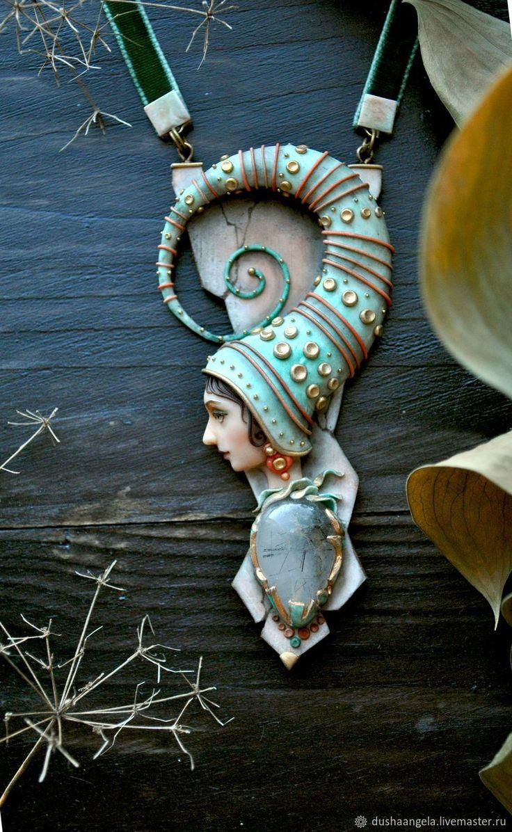 """Колье """"Fairy somnia"""" скульптурная миниатюра – купить в интернет-магазине на Ярмарке Мастеров с доставкой - FBW7LRU"""