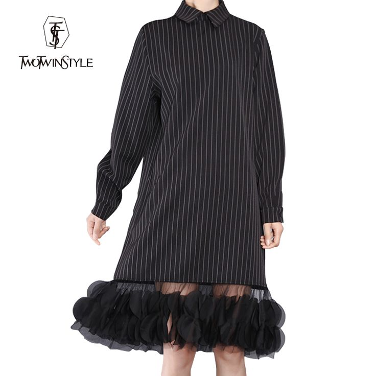 Find More Dresses Information about [TWOTWINSTYLE] 2016 Ladies Vertical Stripes Splicing Flowered Mesh See Through Long Sleeve Lapel Dress Women New,High Quality yarn brands,China apparel boxers Suppliers, Cheap yarn knit from TWOTWINSTYLE on Aliexpress.com