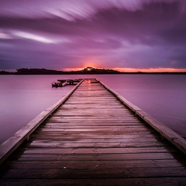 A stunning sunset capture at 'Dick Clarke Jetty' in Strahan on Tassie's West Coast. Summer is the perfect time to visit Strahan when the town is a buzz with visitors and locals. #strahan #sunset #tasmania #discovertasmania Image credit: Aaron Jones