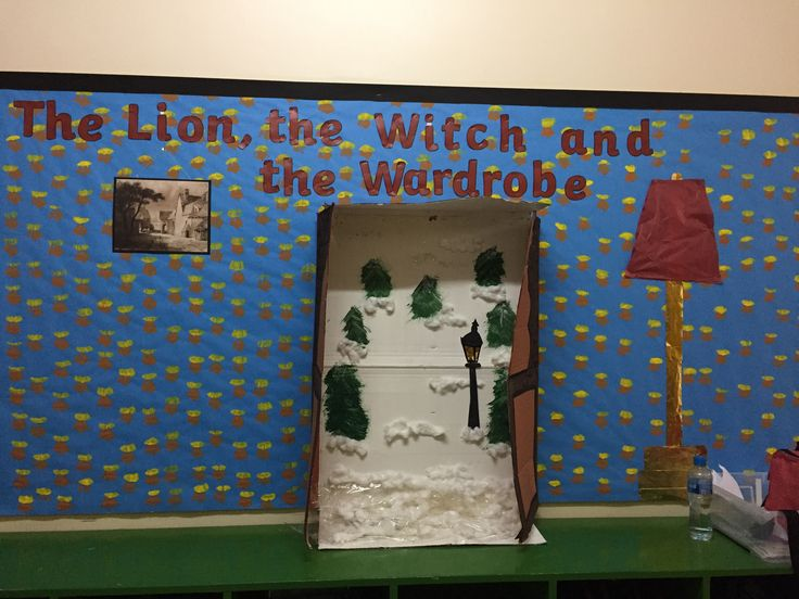 The lion, the witch and the wardrobe display