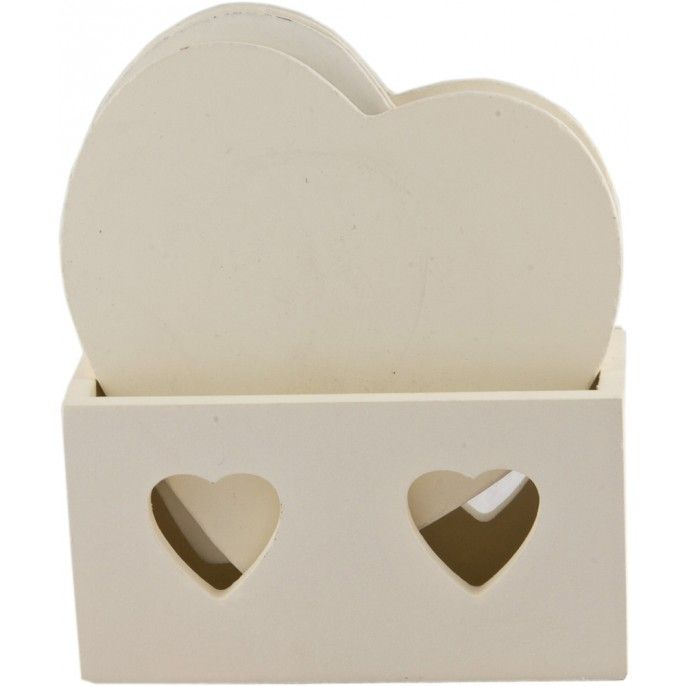 WOODEN HEART COASTERS - Home & Furniture | Poundstretcher