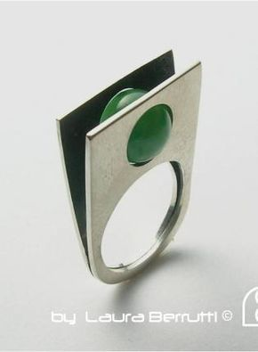 Sterling Ring with Round Jade Stone,  Jewelry, sterling silver  jade