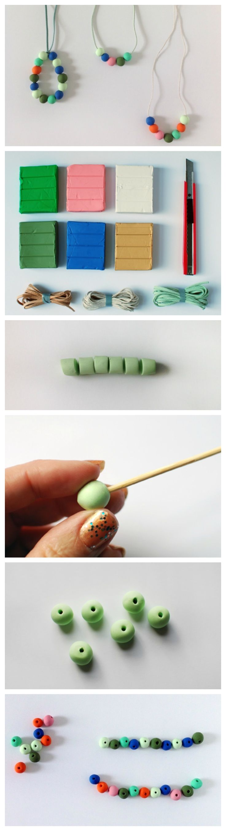 Learn how to make your own colourful polymer clay beads with this step-by-step tutorial.: