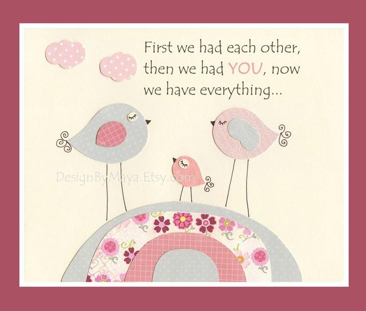 Pink and Gray Nursery Wall Decor, Pink Gray Birds, Light Pink Wall Art For Nursery Room, Pink Love Birds