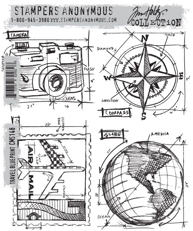 155 best the originals images on pinterest airplanes blueprint these new stamps from tim holtz are amazing of course the camera is my favorite malvernweather Gallery