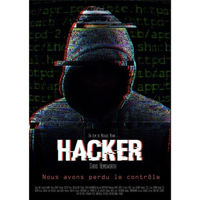 Film Poster : HACKER  #film #filmposters #ads #advertising #photoshop #creation #hacker #hack #hacking #affiche #film #chrishemsworth #infographie #graphism #infographic #sombre #like #matrice #mysterieux #mjm #mjmgraphicdesign @ecole_mjm @chrishemsworth
