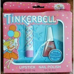 Tinkerbell cosmetics, peel of nailpolish.