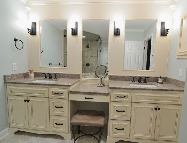 Double Vanity With Sitting Area Basement Bathroom Bathroom