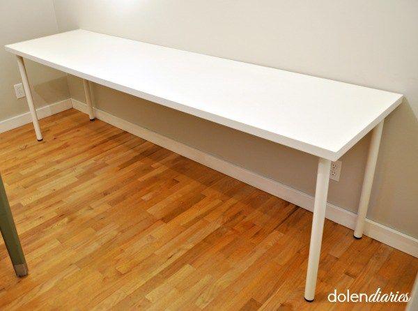 double ikea desk tops