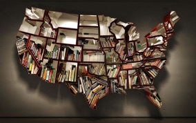 United States #BookshelfLibraries, Bookshelves, Bookshelf Design, 50 States, Maps, Bookcas, Ron Arad, Book Shelves, United States