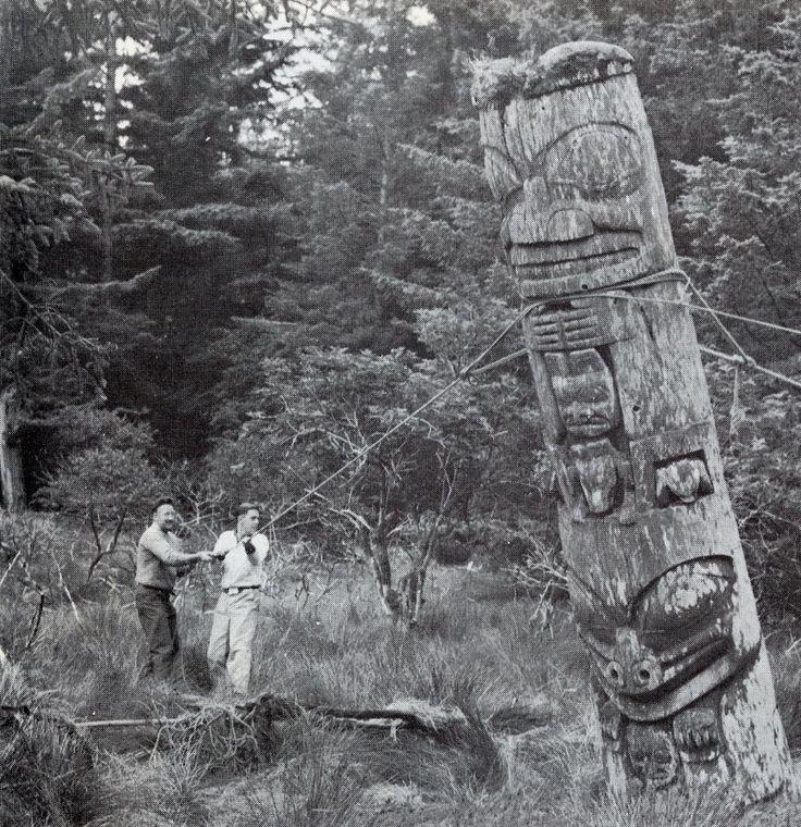 Totem Pole Felling via Old Chum.Pole Felling So, Felling So Sadness, Totems Pole, Untitled, A D Photos, Totem Poles, Photos Shared