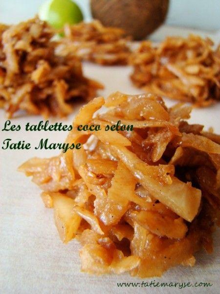 Recette des tablettes coco (ou sik a coco) selon Tatie Maryse
