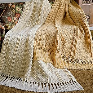 Crochet Knurl Stitch : ... crochet epattern londonderry and dublin afghan fisherman crochet