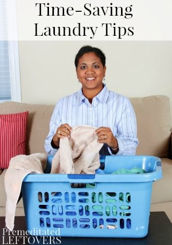 7 Time Saving Laundry Tips - Get your laundry done in less time using these tips to quickly get your laundry sorted, washed, dried, folded and put away.