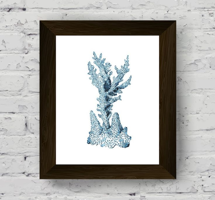 coral wall decor, coastal prints, nautical watercolor, marine decor, bathroom wall art, sea print, wall art prints, digital download di AlemiPrints su Etsy