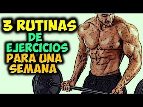 3 RUTINAS DE EJERCICIOS Semanales | Para Ganar Masa Muscular Rapidamente | en el CUERPO!!! - YouTube
