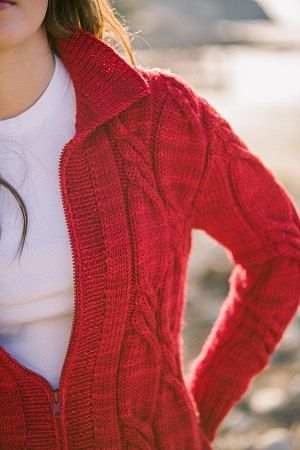 Rosen Twisted Cable Jacket Knitting Pattern