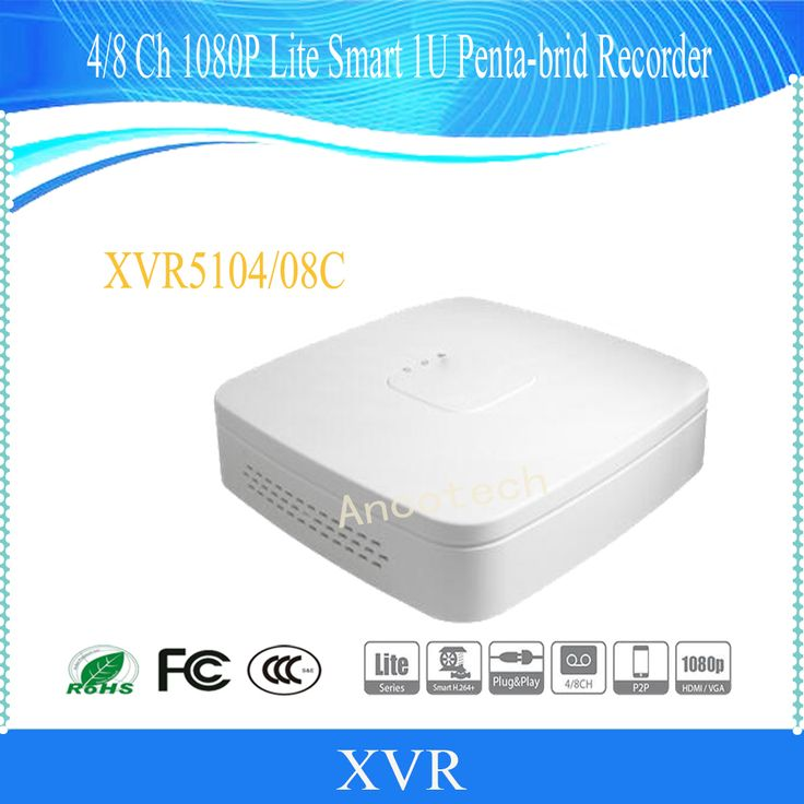 Free Shipping DAHUA NEW Product 4/8 Channel Penta-brid 1080P Lite Smart 1U Digital Video Recorder Without Logo XVR5104C/XVR5108C