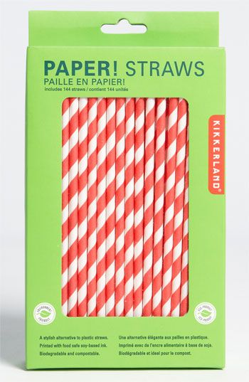 stripey straws! http://shop.nordstrom.com/s/kikkerland-design-biodegradable-paper-straws/3413470