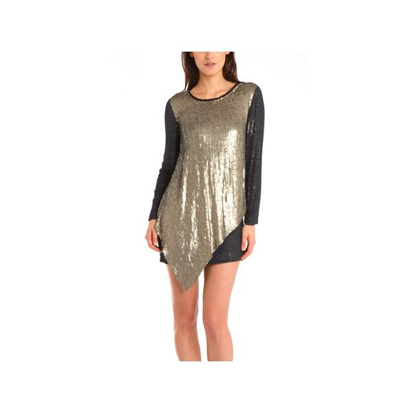 3.1 Phillip Lim Sequin-Embellished Silk Dress 3.1 Phillip Lim ($330) ❤ liked on Polyvore featuring dresses, 3.1 phillip lim, warehouse, brown dresses, brown silk dress, silk cocktail dress, brown sequin dress and sequin dress