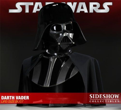 Darth Vader Life-size Bust by Sideshow Collectibles. $1199.99. Sideshow is proud to announce the Darth Vader Life-Size Bust, created in partnership with the talented FX artists at Spectral Motion. Capturing every detail of the Sith Lord and his helmet, this versatile bust has been constructed so that the helmet may be removed to reveal Anakin's scarred visage. The interior of the face and neck portions of the mask are fully detailed to represent all of the wiri...