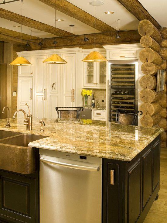 135 best Cabin kitchen images on Pinterest Dream kitchens Cabin