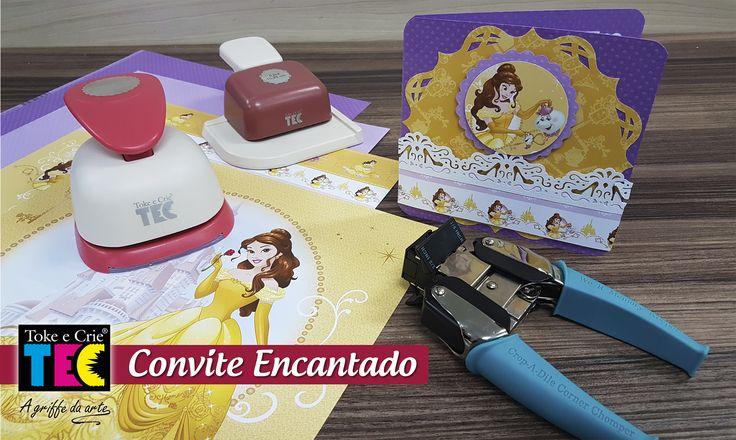 Assista o vídeo e aprenda criar esse lindo CONVITE ENCANTADO para festas infantis...s2