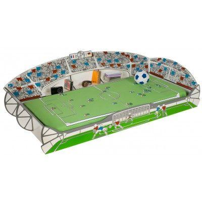 Kinderbett im Design eines Fußballstadion ist ideal für Ihre kleinen Fußballfans. Es bietet Platz für eine Matratzengröße 90x190 und 90x200  (verstellbar). #Betten #Kinderbett #Fussballstadion #Themenbett