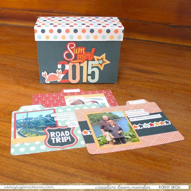Recipe Box Mini Album by Kathy Skou