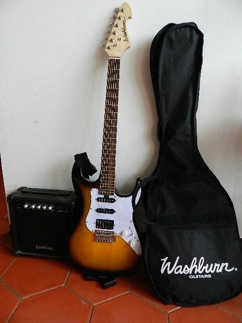 Venta de guitarra eléctrica Washburn con amplificador y forro…