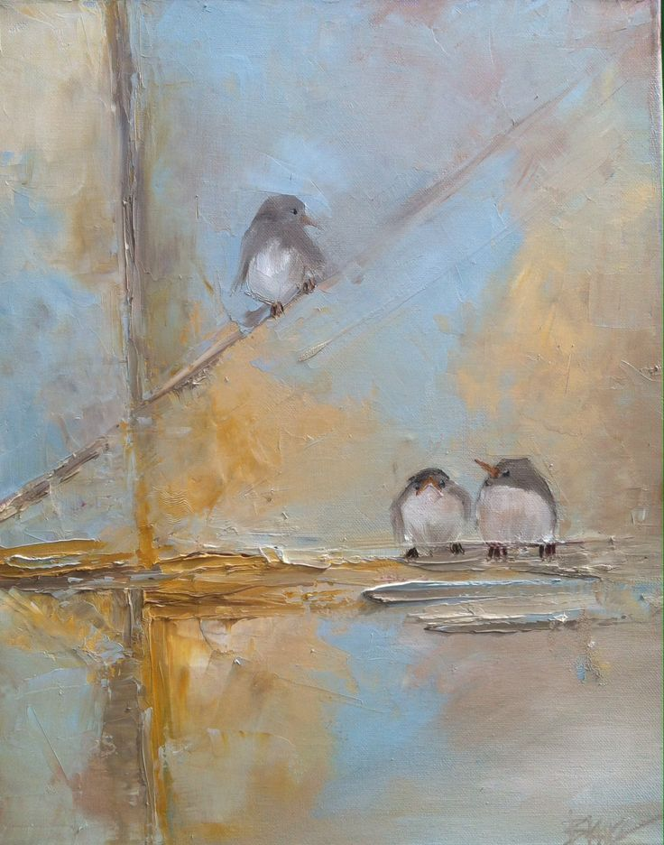 Blaire wheeler abstract painting with birds
