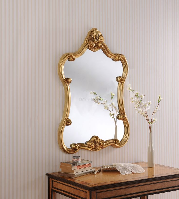 The Lucia Rococo Overmantle Mirror Features A Central Mirror, Framed With  An Ornate, Gold Frame. This Mirror Is A Beautiful Addition To Any Room And  Looks ...