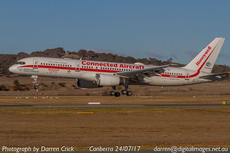 Honeywell Flight Test Aircraft arrives at Canberra Airport 24/07/17. #avgeek #aviation #aeroausmag #aero #canon #cbr http://buff.ly/2tCdfi2?utm_content=bufferbef5e&utm_medium=social&utm_source=pinterest.com&utm_campaign=buffer