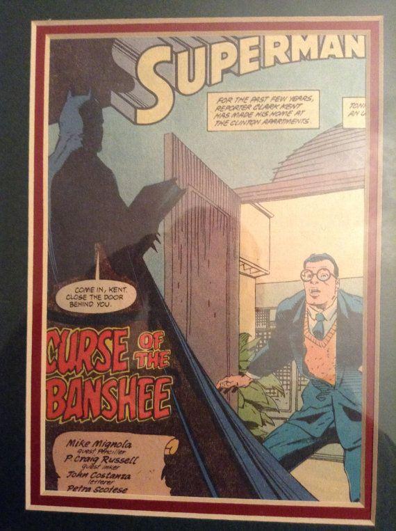 Original Superman Comic Illustration - Curse of the Banshee - 1980s