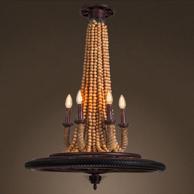 Amerikaanse Platteland Stijl Hanglamp Antieke Henneptouw Licht Smeedijzeren Lamp Koffie Winkel Decoratie Licht Gratis Verzending