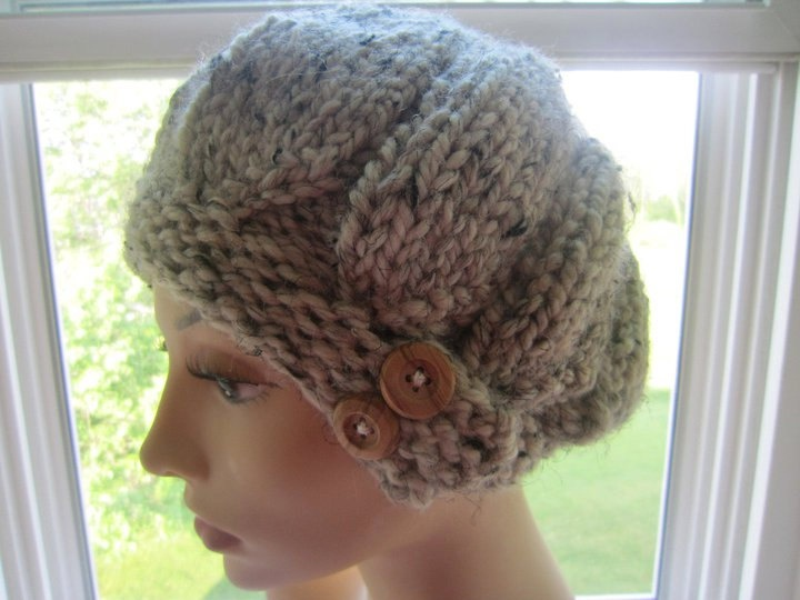 Slouchy Knit Button Hat In Oatmeal or by LoopityLoopBoutique, $20.00