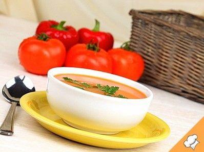 Томатный суп с карамелью
