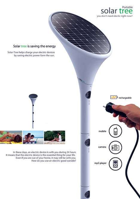 Beach-Approved Electrical Outlets - The Solar Tree Provides Sun-Powered Fun in the Sun (GALLERY)