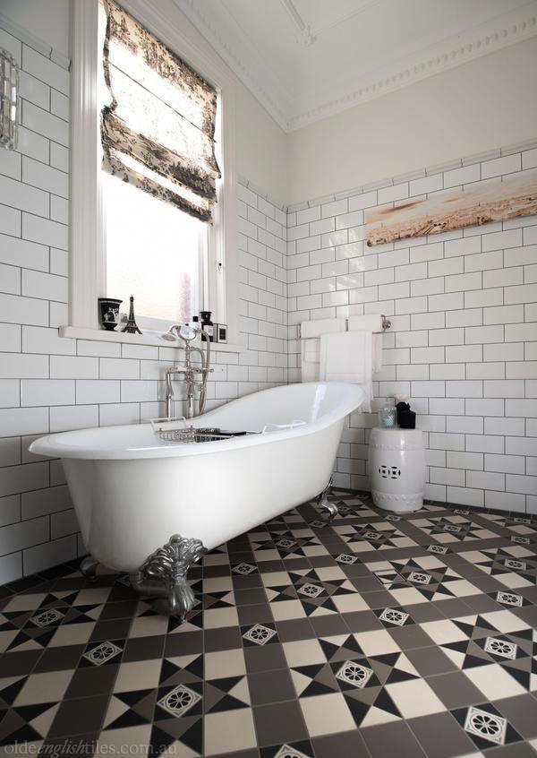 Olde English Tiles Beautiful Bathroom Heritage Tessellated Tiles Love These Victorian Geometric T Heritage Bathroom French Provincial Bathroom Tile Bathroom