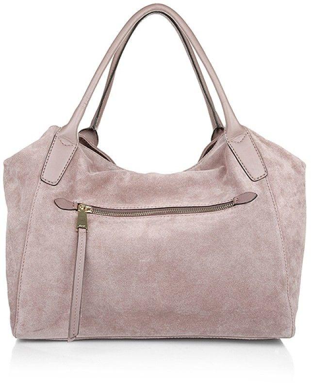 Abro Braveheart Leather Handbag Suede Antique Rose Handtaschen