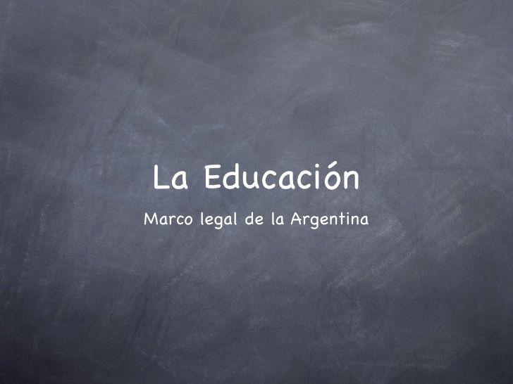 Ley de Educación en Argentina