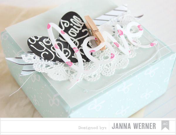 Janna Werner: American Crafts ♥ Valentine's Day Blog Hop   Origami Box - Dear Lizzy Daydreamer