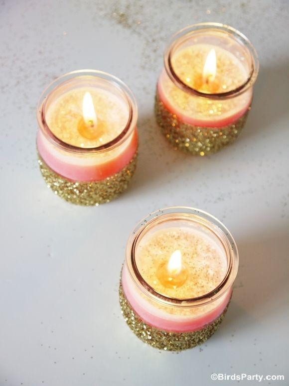 DIY: Bougies scintillantes en utilisant des pots de yaourt!