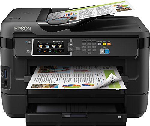 Epson WorkForce WF-7620DTWF 4-in-1 Multifunktionsdrucker (Drucken, scannen, kopieren, faxen, Duplex, WiFi, A3+, 2 Papierf�cher, Dokumenteneinzug) schwarz