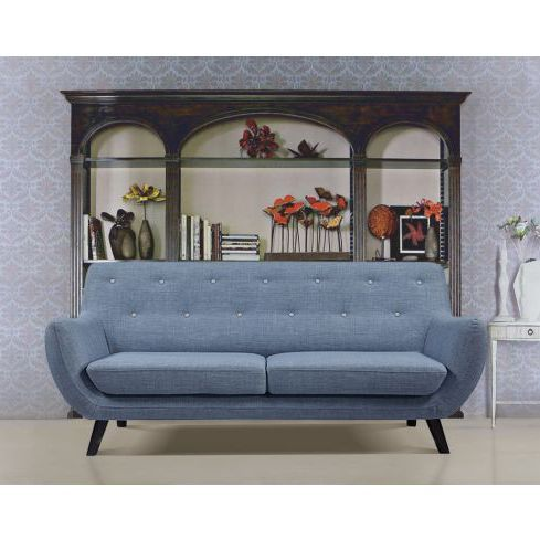 The Sixty 3 Seater Sofa Lounge in Light Blue | Buy Sofas