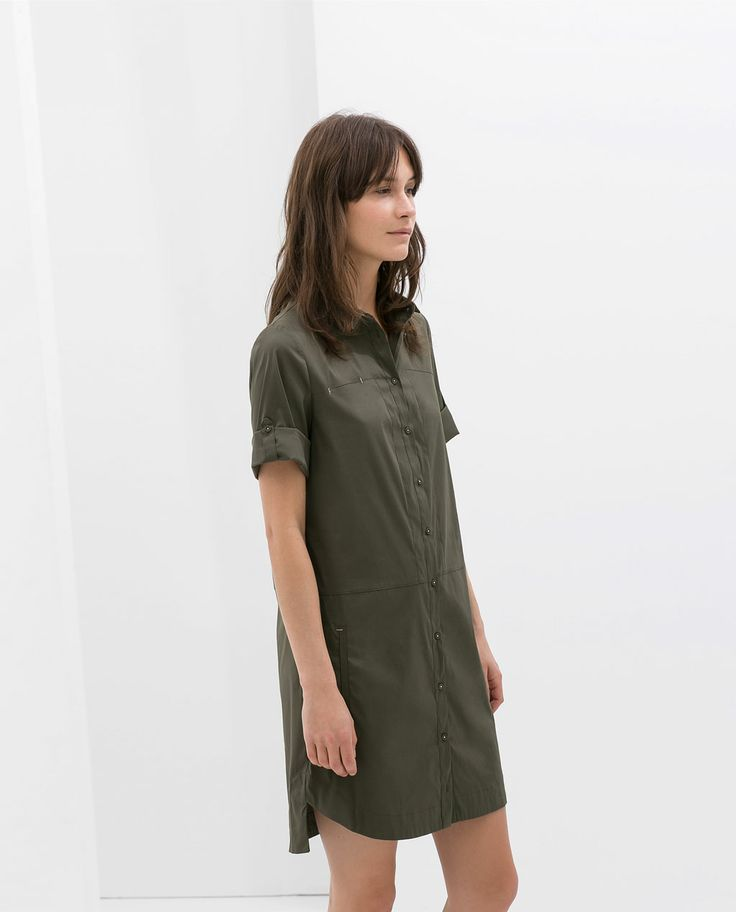 zara robe chemise popeline summer effortless style With zara robe chemise
