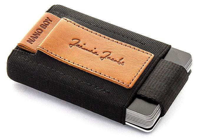 Carbon JAIMIE JACOBS Portefeuille Homme Nano Boy Portefeuilles Minimaliste Porte-Monnaie Fin Mini Wallet Porte-Carte Pince /à Billets